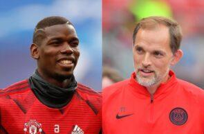 Paul Pogba of Manchester United, Thomas Tuchel of Paris Saint-Germain
