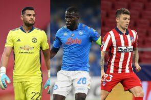 Sergio Romero of Manchester United, Kalidou Koulibaly of Napoli, Kieran Trippier of Atletico Madrid