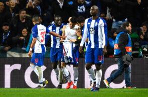 Alex Telles celebrates with Porto