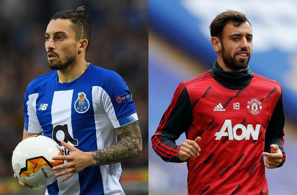Alex Telles, Bruno Fernandes, Manchester United