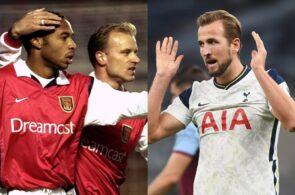 Dennis Bergkamp, Thierry Henry, Harry Kane