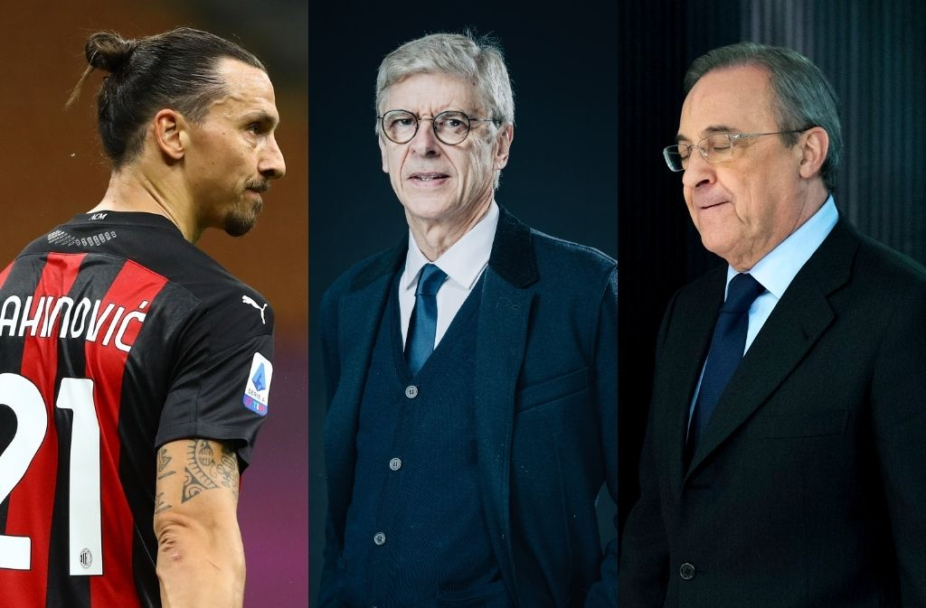 Zlatan Ibrahimovic, Arsene Wenger, Real Madrid