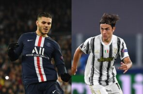 Mauro Icardi of Paris Saint-Germain, Paulo Dybala of Juventus