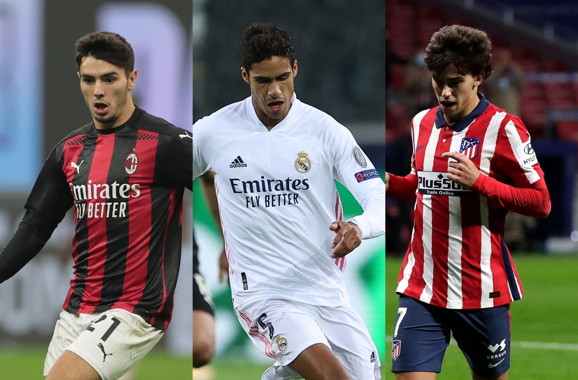 Brahim Diaz of AC Milan, Raphael Varane of Real Madrid, Joao Felix of Atletico Madrid