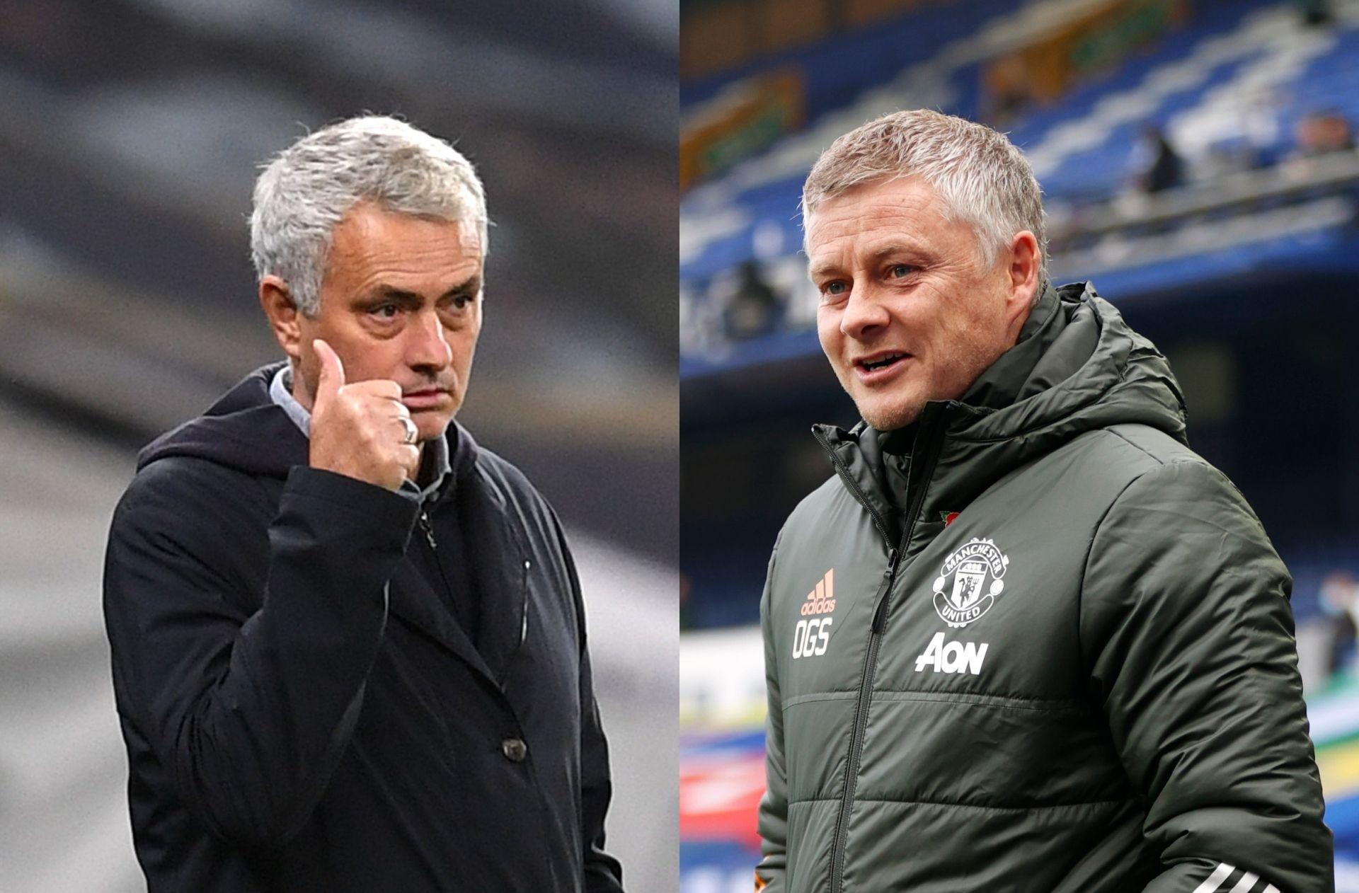 Jose Mourinho of Tottenham, Ole Gunnar Solskjaer of Manchester United