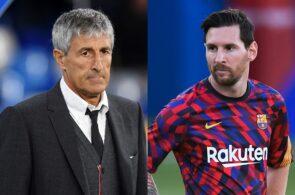 Quique Setien, Lionel Messi, FC Barcelona