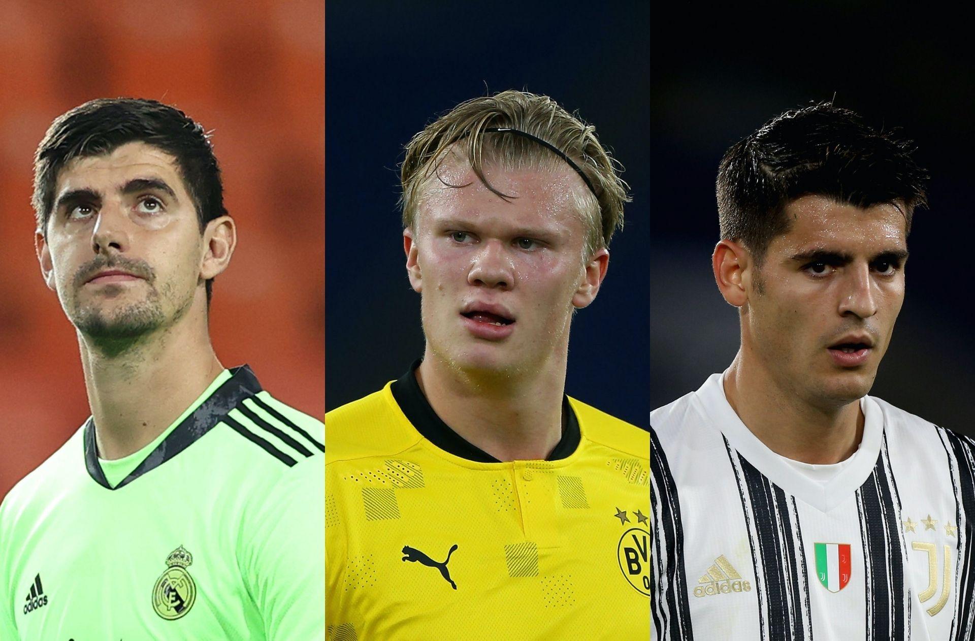 Thibaut Courtois, Erling Haaland, Alvaro Morata