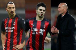Brahim Diaz, Zinedine Zidane, Zlatan Ibrahimovic AC Milan