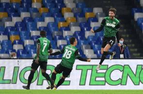 Napoli lose to Sassuolo