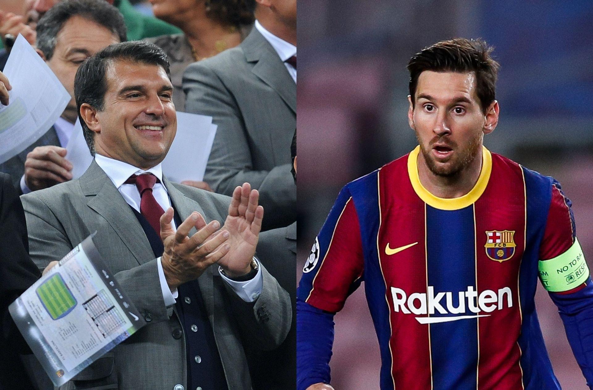 Ex-Barcelona president Laporta breaks his silence on Messi's future