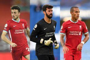 Diogo Jota, Alisson Becker, Thiago Alcantara - Liverpool