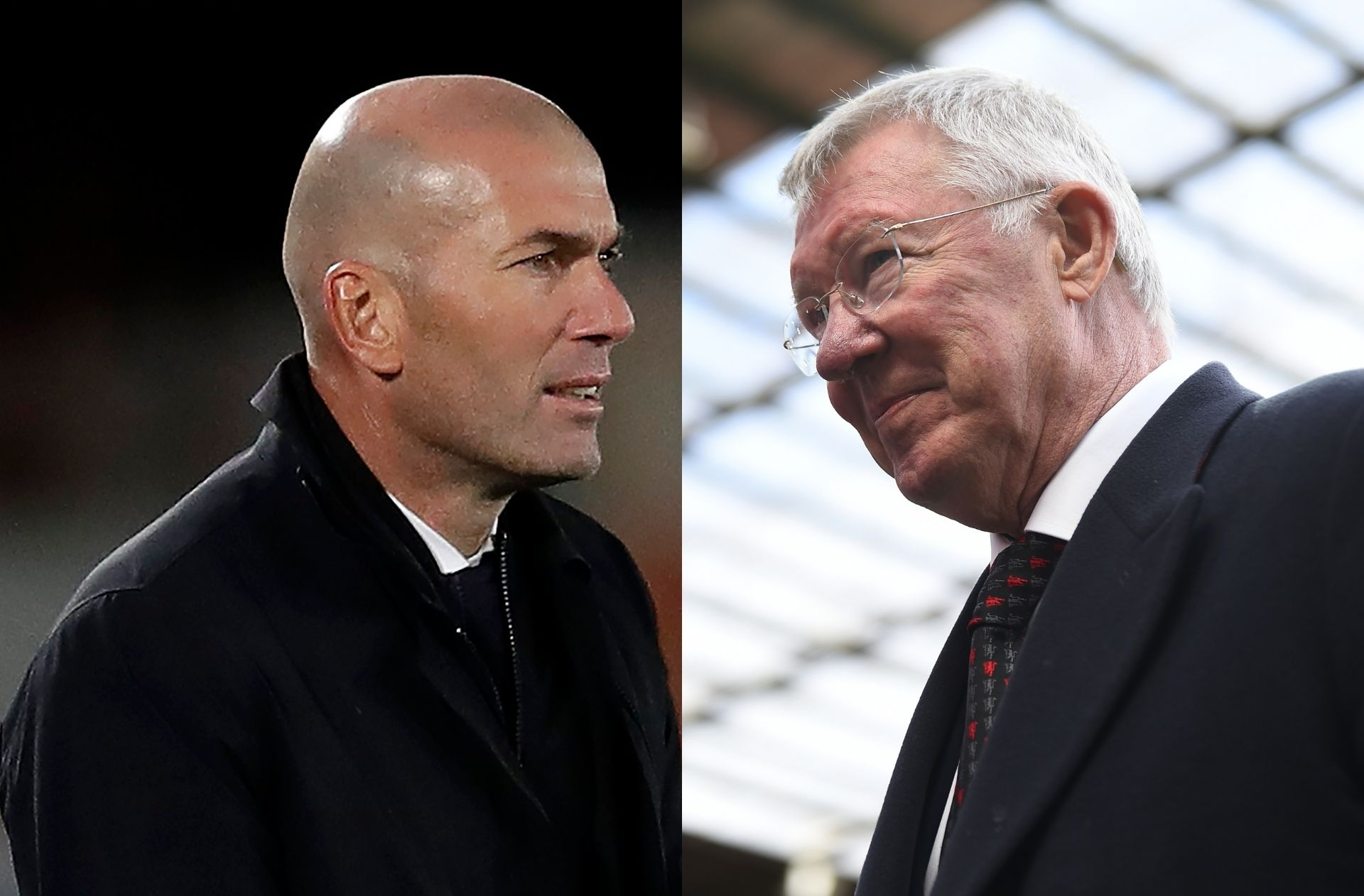 Zinedine Zidane of Real Madrid, Sir Alex Ferguson