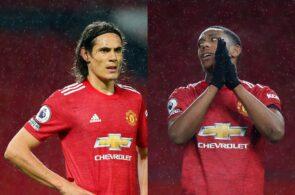 Edinson Cavani, Anthony Martial - Manchester United