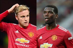 Donny van de Beek, Paul Pogba - Manchester United