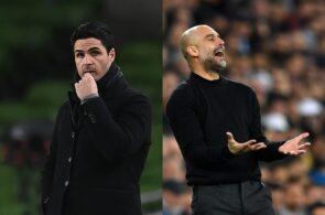 Mikel Arteta - Arsenal, Pep Guardiola - Manchester City