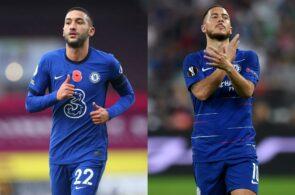 Hakim Ziyech, Eden Hazard, Chelsea