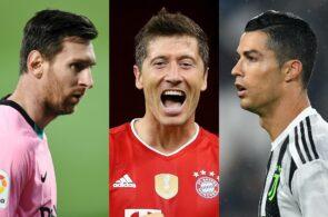 Lionel Messi, Robert Lewandowski, Cristiano Ronaldo, FIFA The Best