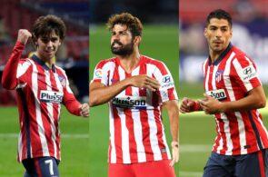 Joao Felix, Diego Costa, Luis Suarez, Atletico Madrid