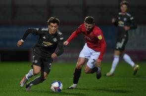 Facundo Pellistri, Morecambe v Manchester United U21 - EFL Trophy