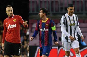 Dimitar Berbatov, Lionel Messi, Cristiano Ronaldo