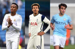 Eder Militao of Real Madrid, Dele Alli of Tottenham, Eric Garcia of Manchester City