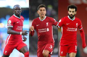 Sadio Mane, Roberto Firmino, Mohamed Salah - Liverpool