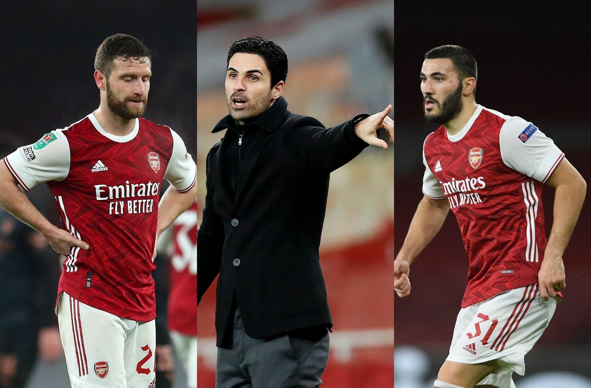 Shkodran Mustafi, Mikel Arteta, Sead Kolasinac - Arsenal