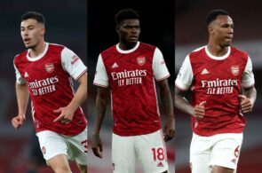Gabriel Martinelli, Thomas Partey, Gabriel Magalhaes - Arsenal
