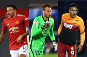Jesse Lingard of Manchester United, Neto of FC Barcelona, Radamel Falcao of Galatasaray
