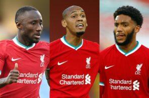 Naby Keita, Fabinho, Joe Gomez, Liverpool