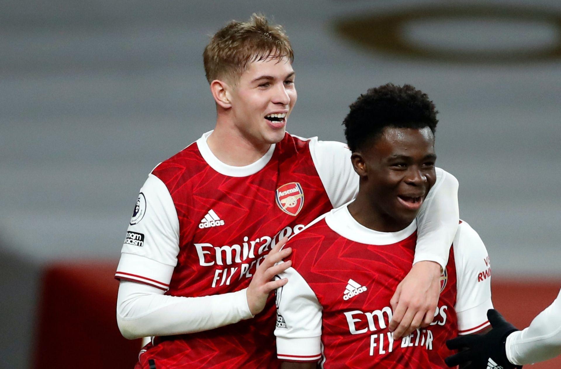 Emile Smith Rowe, Bukayo Saka, Arsenal