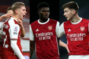 Emile Smith Rowe, Thomas Partey, Kieran Tierney, Arsenal