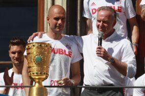 Pep Guardiola, Karl-Heinz Rummenigge, Bayern Munich