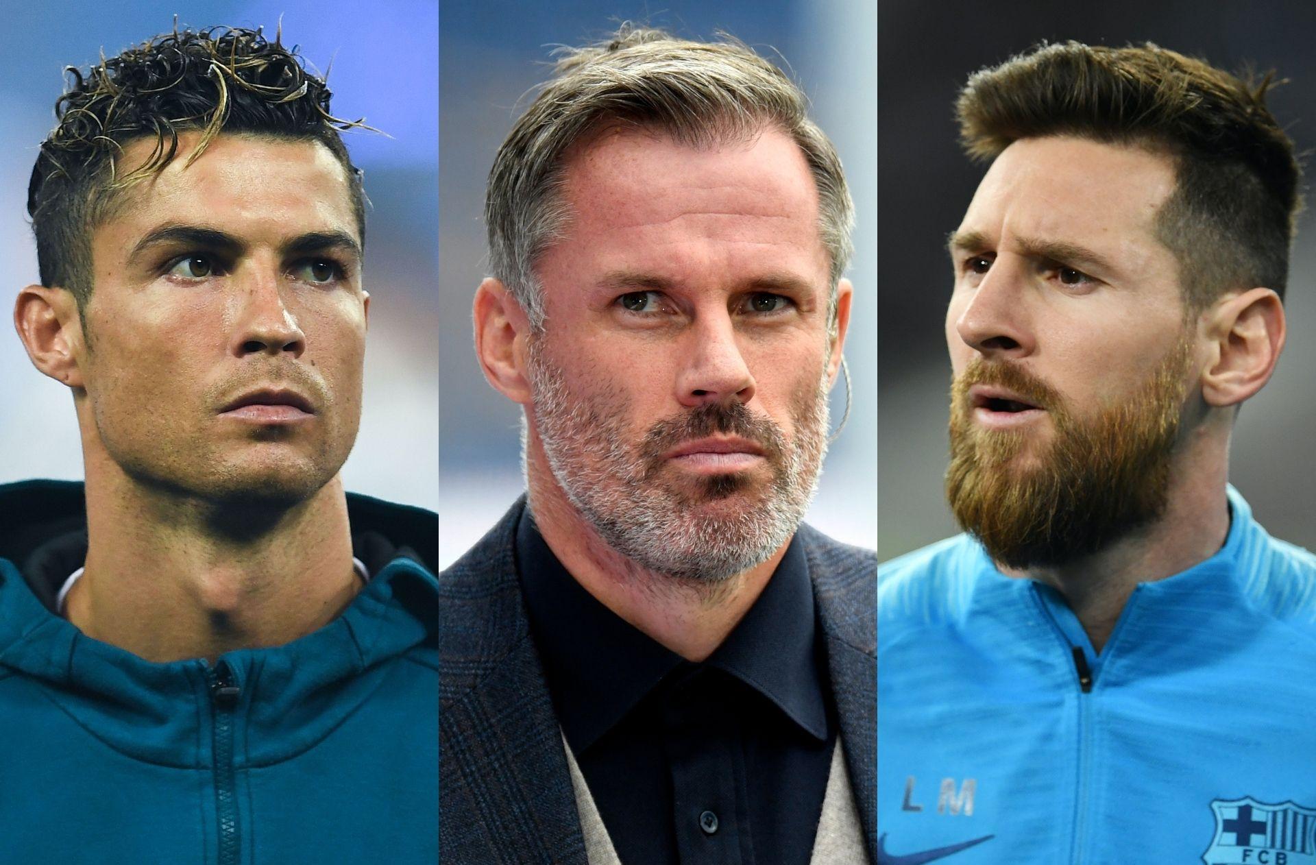 Cristiano Ronaldo, Jamie Carragher, Lionel Messi