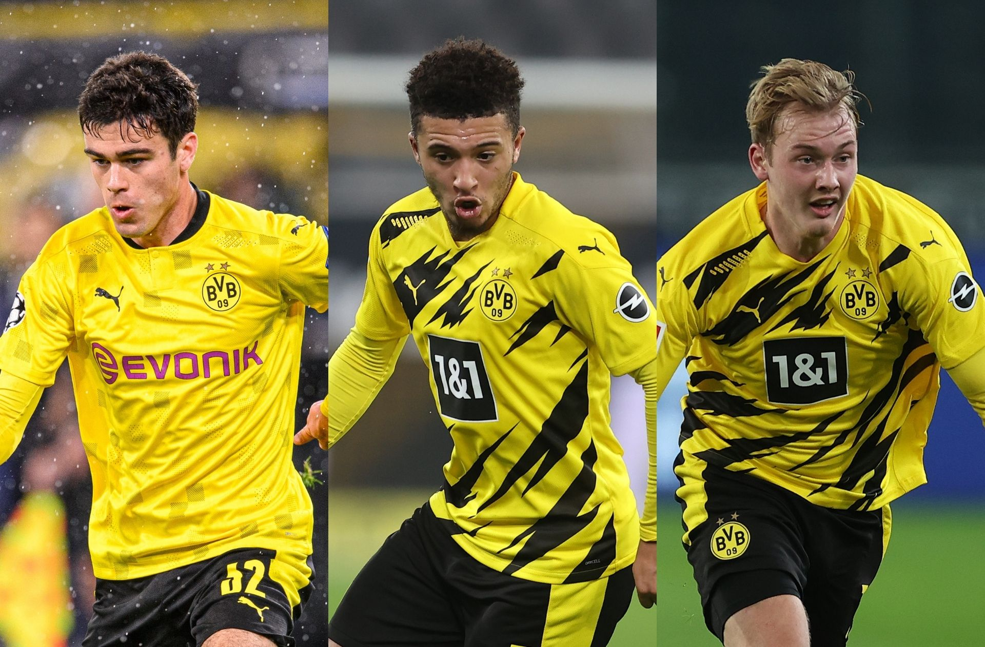 Giovanni Reyna, Jadon Sancho, Julian Brandt - Borussia Dortmund