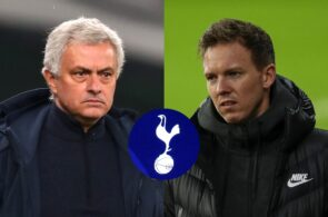 Jose Mourinho of Tottenham, Julian Nagelsmann of RB Leipzig