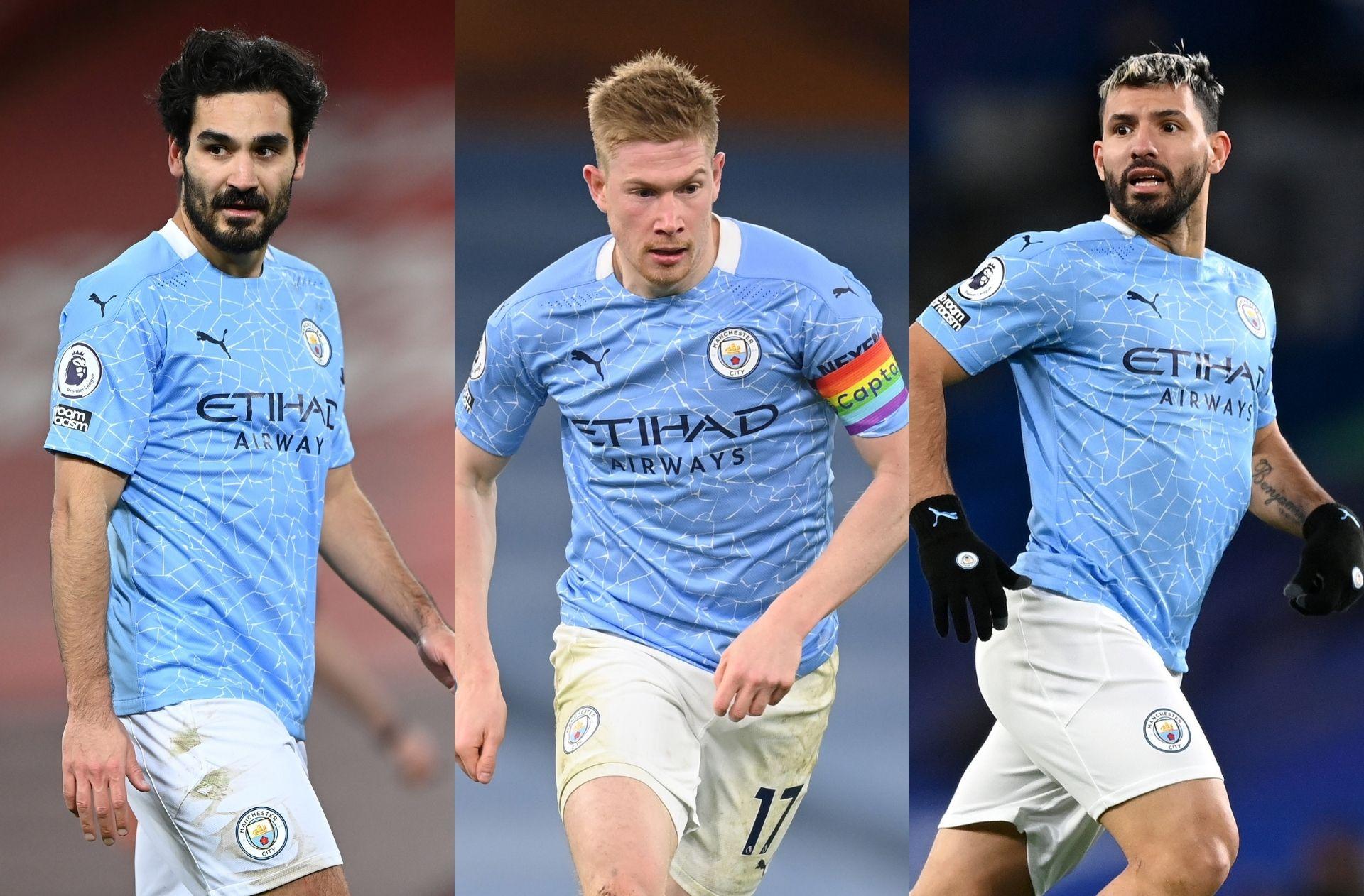 Ilkay Gundogan Kevin De Bruyne Sergio Aguero - Manchester City