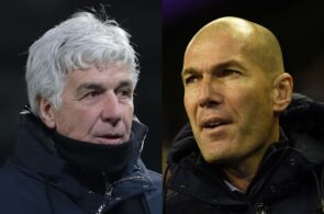 GIan Piero Gasperini of Atalanta, Zinedine Zidane of Real Madrid