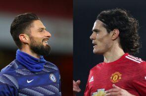 Olivier Giroud, Edinson Cavani, Chelsea, Manchester United