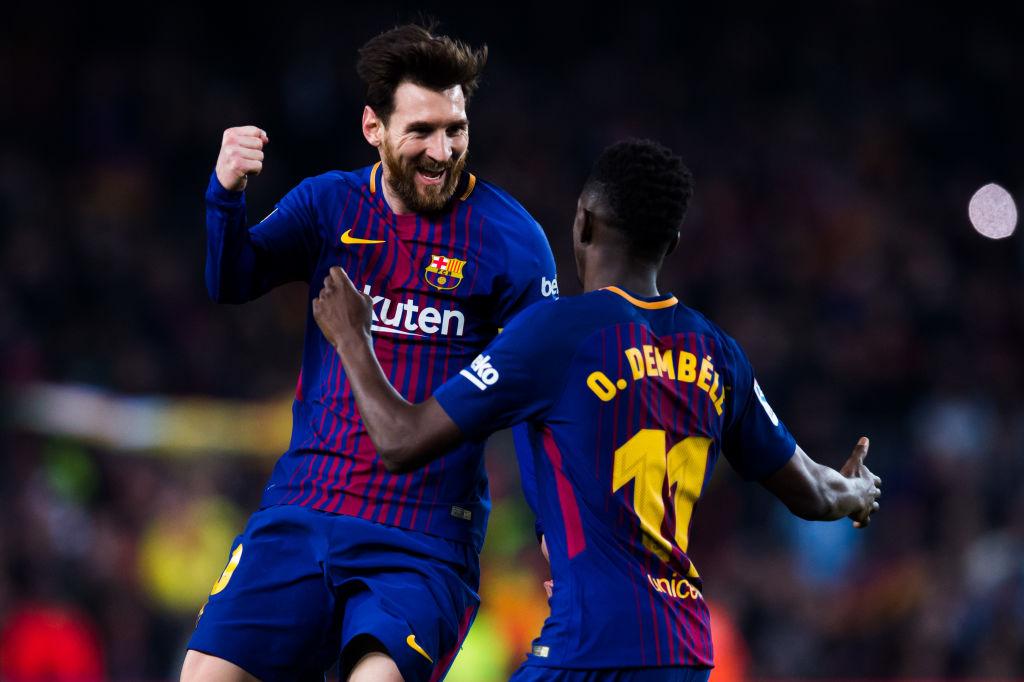 Lionel Messi, Ousmane Dembele, FC Barcelona