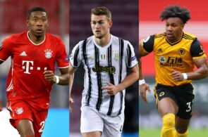 David Alaba of Bayern Munich, Matthijs de Ligt of Juventus, Adama Traore of Wolves