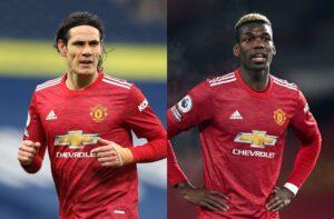 Edinson Cavani, Paul Pogba - Manchester United