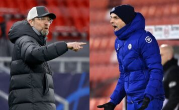Jurgen Klopp of Liverpool, Thomas Tuchel of Chelsea