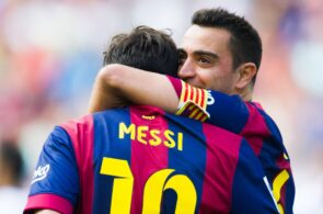Xavi Hernandez, Lionel Messi - FC Barcelona