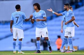 Raheem Sterling, Nathan Ake, Manchester City