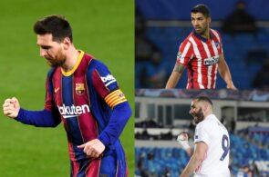 Lionel Messi, Luis Suarez, Karim Benzema, La Liga