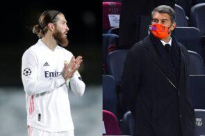 Sergio Ramos, Joan Laporta, Real Madrid, Barcelona