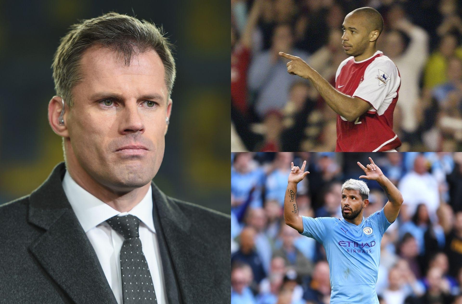 Jamie Carragher, Thierry Henry, Sergio Aguero, Premier League