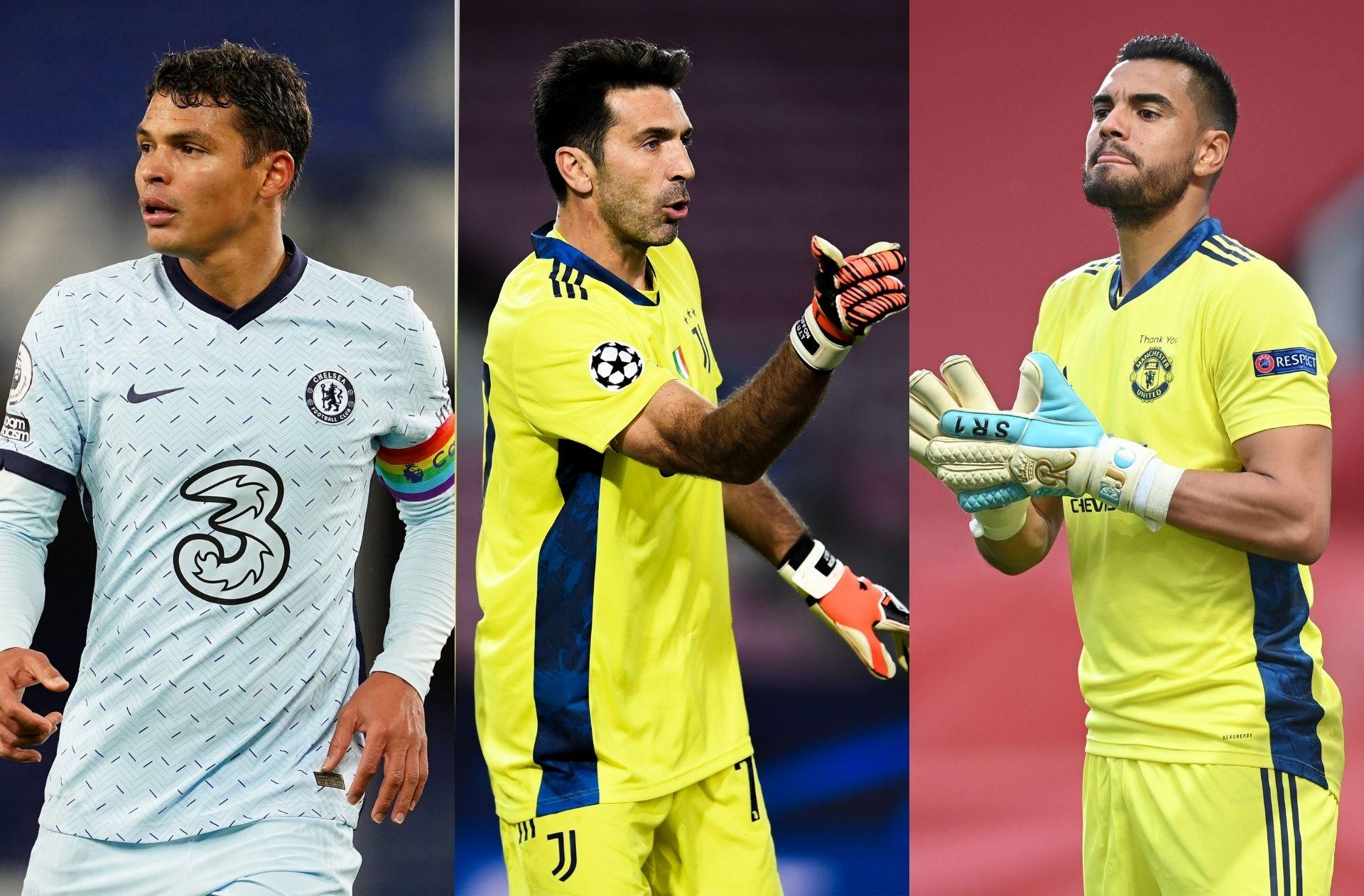 Thiago Silva of Chelsea, Gianluigi Buffon of Juventus, Sergio Romero of Man United