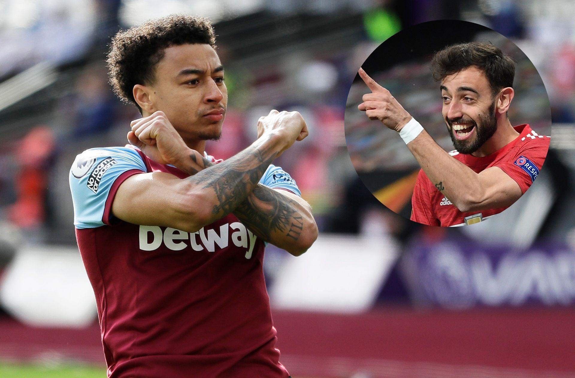 Jesse Lingard - West Ham, Bruno Fernandes - Man United